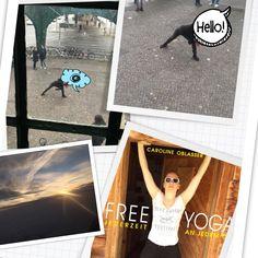 FREE YOGA in Berlin Prenzlauer Berg. Oder in den echten Bergen. www.editionriedenburg.at/buecher/themen-fuer-erwachsene/free-yoga-jederzeit-an-jedem-ort-50-yoga-routinen-ohne-matte/ Yoga Routine, Bergen, Polaroid Film, Places