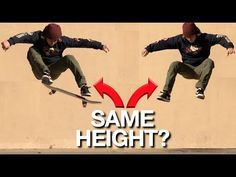 (54) How to OLLIE as High as you Jump! - YouTube