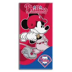 """Checkout our #LicensedGear products FREE SHIPPING + 10% OFF Coupon Code """"Official"""" MLB Mickey Mouse Beach Towel MLB Team: Philadelphia Phillies - MLB Mickey Mouse Beach Towel MLB Team: Philadelphia Phillies - Price: $24.99. Buy now at https://officiallylicensedgear.com/mlb-mickey-mouse-beach-towel-mlb-team-philadelphia-phillies"""