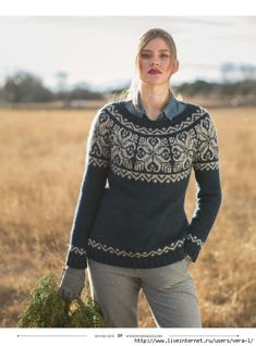 Easy Knitting Patterns for Beginners - How to Get Started Quickly? Fair Isle Knitting Patterns, Knitting Designs, Knit Patterns, Jumper Patterns, Knitting Projects, Icelandic Sweaters, Knitting Magazine, Hand Knitting, Simple Knitting