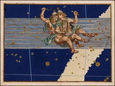 Gemini from Rare Book: Johann Bayer's Celestial Atlas, Augsburg / 1603