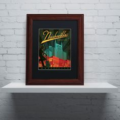 'Nashville, TN' by Anderson Design Group Framed Graphic Art