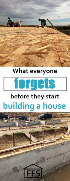 What everyone forgets before they start building a house. How to build your own house