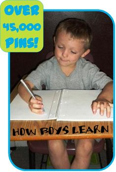 How Boys Learn: The Learning Curve is different for boys than girls - tips to help you succeed in educating your male child! How Boys Learn: The Learning Curve is different for boys than girls - tips to help you succeed in educating your male child! Learning Activities, Kids Learning, Activities For Kids, Learning Styles, Teaching Tools, Teaching Resources, Timmy Time, E Mc2, Raising Boys