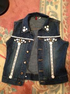 Denim Jacket to Pretty Vest