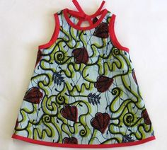 La folie du wax: Baby wax. Baby African Clothes, African Dresses For Kids, Latest African Fashion Dresses, Dresses Kids Girl, Kids Outfits, African Kids, Baby Girl Dress Patterns, Baby Dress Design, African Attire