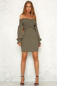 Intermission Dress Olive