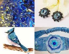 Beautiful Blues are in the Spotlight by Phyllis on Etsy--Pinned with TreasuryPin.com