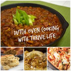 Delicious Dutch Oven recipes from Thrive Life's Chef Todd.