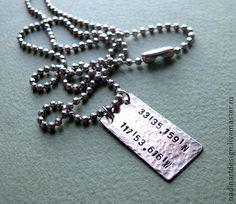 Мужское ожерелье `Памятное место`.