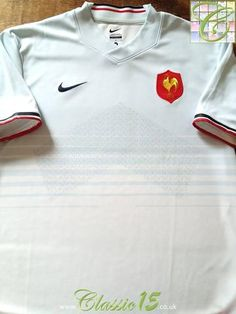 5697459c3 Relive France's 2011/2012 international season with this original Nike away rugby  shirt. France