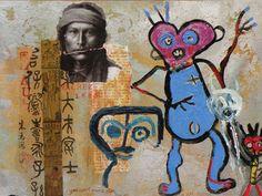 Imbibing Shaman, Jane Ash Poitras Contemporary Art Artists, 3 Three, Native American Artists, Aboriginal Art, Outsider Art, Beautiful Things, Nativity, Ash, Mixed Media