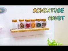 Doll Kitchen#12 DIY miniature cruets 미니어쳐 양념병세트 만들기 - YouTube