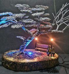 Handmade Wire, Handmade Gifts, Wire Art Sculpture, Metal Tree, Tree Art, Metal Wall Art, Bonsai, Decorating Your Home, Craft Supplies
