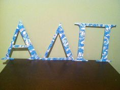Alpha Delta Pi Lilly letters $48. Inspired by the ADPi Lilly Pulitzer sorority print.