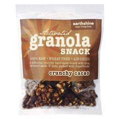 Earthshine Crunchy Cacao Activated Granola Snack