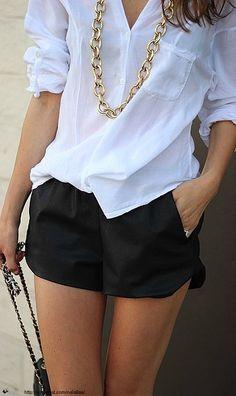 Zara silk shorts.
