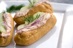 "TASTY TRIX: Savory Salmon Mousse Eclair ""Hot Dogs"" for the International Incident Hot Dogs Party"