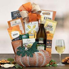 Thanksgiving Gift Baskets - Harvest Wine Gift Basket Holiday Gift Baskets, Wine Gift Baskets, Holiday Gifts, Honey Crunch, Thanksgiving Gifts, Wine Gifts, Halloween Gifts, Pumpkin Spice, Wines