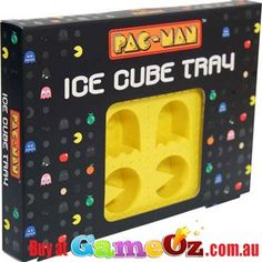 Add+some+retro+fun+to+your+drinks+by+using+thePac+Man+and+Ghost+Ice+Tray.  Brand:+Paladone  Made+from+Food+Safe+silicone
