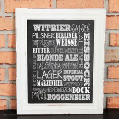 Styles of Craft Beer - Beers - Beer Lover - Ready-to-Frame Art - Black & White - Beer Brewery - Gifts for Men - Home Décor for Men - Groomsman Gift Idea - UNFRAMED Poster Print. Unframed Wall Art featuring Beers of the World - Craft Beer Styles - List of the top Craft Beer Styles (i.e. Lager, IPA, Pilsner, Porter...) - Subway Art - Styles of Craft Beer - Beers - Beer Lover - Beer Brewery - Gifts for Men - Home Décor for Men - Groomsman Gift Idea - Man Room - Man Cave - Bar - UNFRAMED…