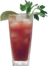 Bloody Monkey - great with vanilla vodka.