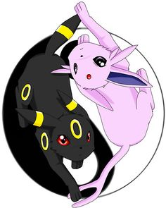 Espeon+Umbreon=Yin+Yang x3 lol