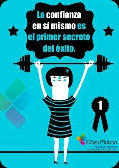 La #confianza es la vlace del #exito. #Frases amor vida español citas