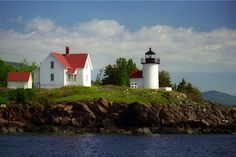 Curtis Island Lighthouse in Camden Maine is a town park accessible only by boat. You can kayak or canoe to the island, see it by boat or view from Bay View Street.