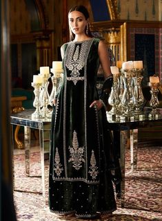 Velvet Is Back! Best Bridal Outfits For Your Trousseau   ShaadiSaga Indian Dresses Online, Indian Fashion Dresses, Indian Designer Outfits, Dress Online, Indian Wedding Outfits, Bridal Outfits, Indian Outfits, Indian Clothes, Anita Dongre