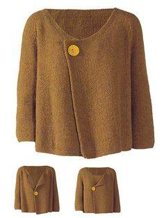 Perlestrik Jacket Knit Pattern - not a free pattern but I like it.