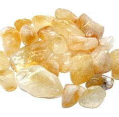 Citrine tumble stones. Benefits: Open mind, Protection and helps with self esteem.