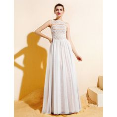 A-line Bateau Floor-length Lace And Tulle Bridesmaid Dress