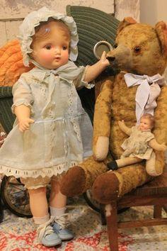 "1928 Huge 26"" Kiddie PAL Dolly Regal MFG CO INC Composition Cloth Antique OLD"