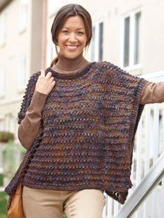 Easy-Wearing Knit Wrap   Yarn   Free Knitting Patterns   Crochet Patterns   Yarnspirations