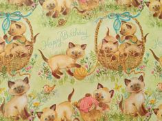 Vintage Gift Wrapping Paper  Juvenile   by TheGOOSEandTheHOUND, $6.00
