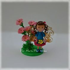 Blue Fairy By Pily Nuñez http://creaquilling.blogspot.com/2015/02/3d-quilled-fairies.html