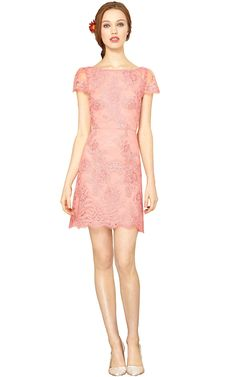 ZENDEN SCALLOP EDGE DRESS from alice+olivia