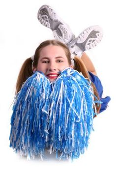 "How to Make Cheerleading Pom Poms.     We are going to Play ""Fearleading Try outs"" which is basically Simon says with cheer leading moves.  It will be ""Cleo Says"" though."