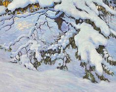 Snowbound by J. Franklin Carmichael, Tom Thomson, Christina Rossetti, Group Of Seven, National Art, Canadian Artists, Snow, Winter, Painting