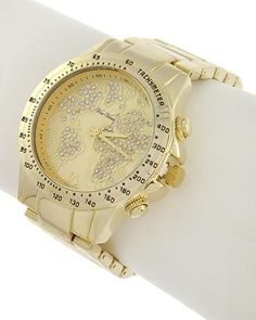 Gold Tone / Clear Rhinestone / Lead&nickel Compliant / Metal Stainless Steel Back / Deployant Clasp / Watch