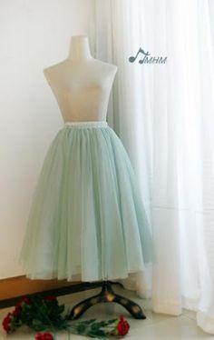 sea green tulle skirt