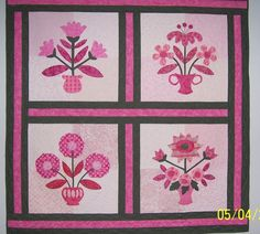 Pink ribbon applique