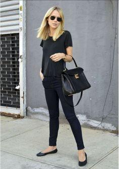 look básico monocromático: total black!