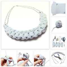 Tutorial: How to make this beautiful necklace from a t-shirt! <3