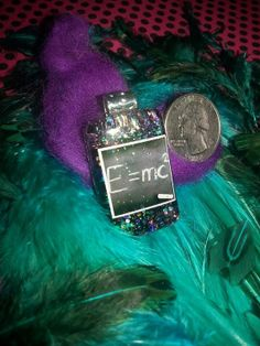 Einstein's Emc Squared Black Glitter Resin Necklace by TheDecoDoor, $18.00