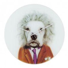 Horloge design chien einstein