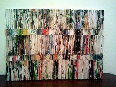 Papieren pijltjes op canvas! #art #kunst