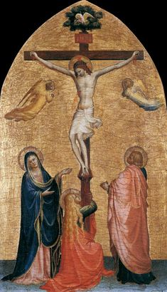 Crucifixion with the Virgin, John the Evangelist, and Mary Magdelene, Fra Angelico Size: cm Medium: panel, tempera Fra Angelico, Religious Paintings, Religious Art, Religious Icons, Italian Renaissance, Renaissance Art, Renaissance Paintings, Medieval Art, Virgin Mary