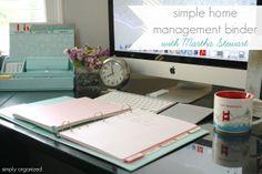 simple home management binder